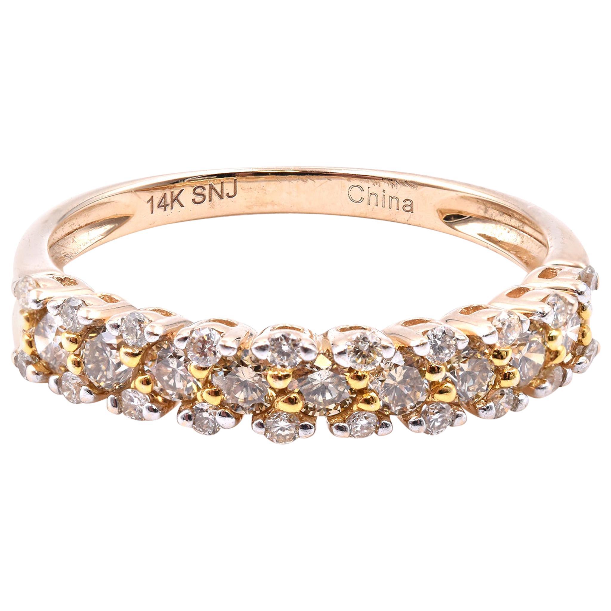 14 Karat Yellow Gold Diamond Band