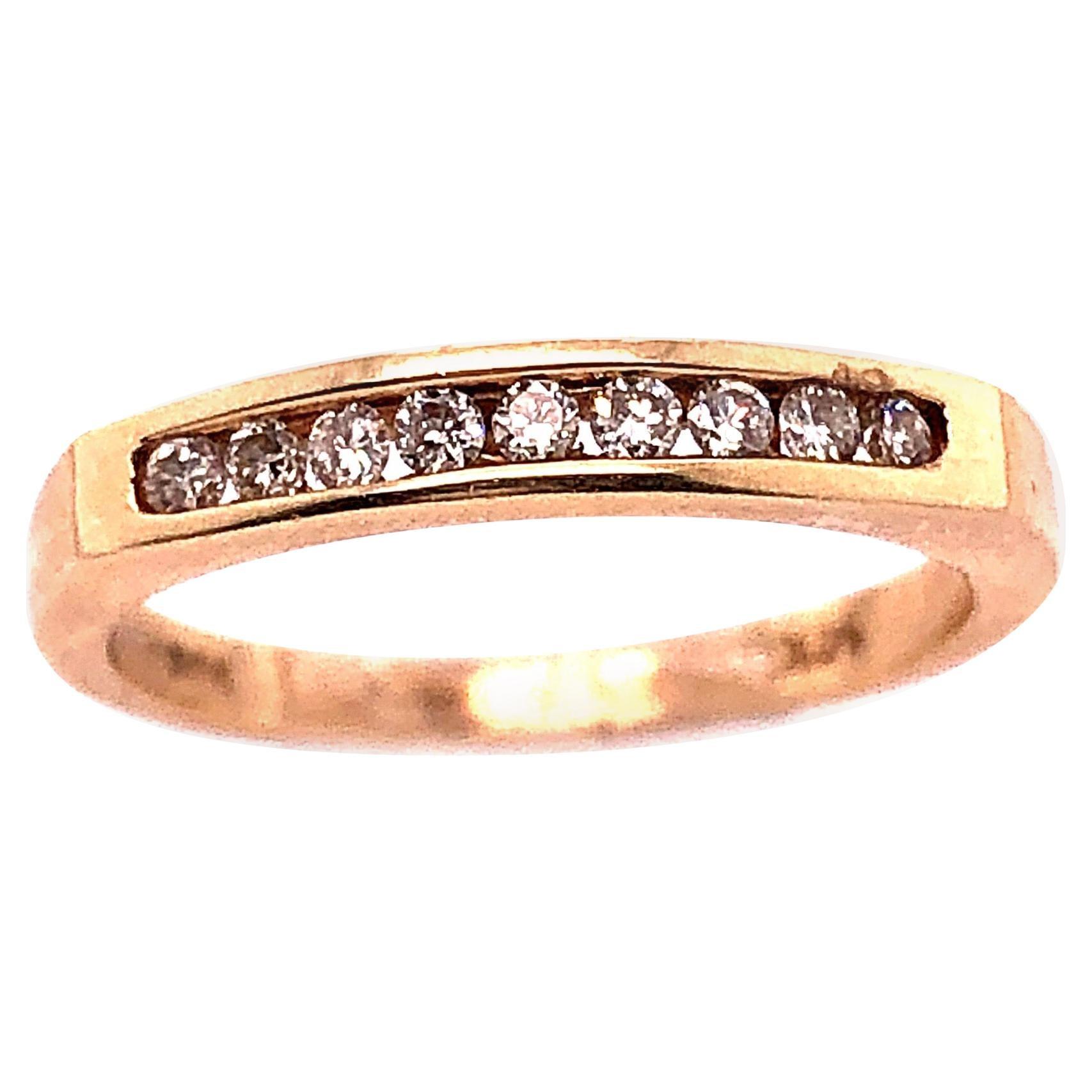 14 Karat Yellow Gold Diamond Band Wedding Anniversary Bridal Ring