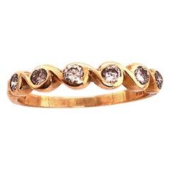 14 Karat Yellow Gold Diamond Band Wedding Bridal Anniversary Ring