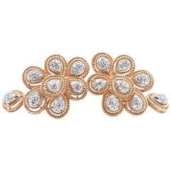 14 Karat Yellow Gold Diamond Earrings with Enhancers