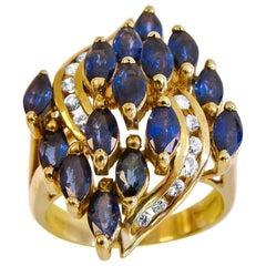 14 Karat Yellow Gold Diamond Ladies Ring