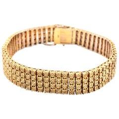 14 Karat Yellow Gold Diamond Link Bracelet