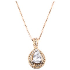 14 Karat Yellow Gold Diamond Necklace