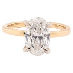 14 Karat Yellow Gold Diamond Solitaire Engagement Ring
