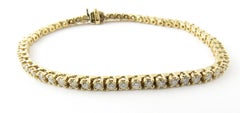 14 Karat Yellow Gold Diamond Tennis Bracelet 1.71 Carat