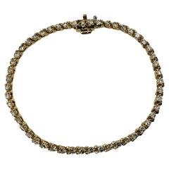 14 Karat Yellow Gold Diamond Tennis Bracelet 2.04 TCW