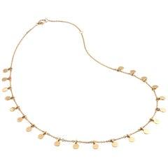 14 Karat Yellow Gold Disc Necklace