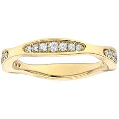 14 Karat Yellow Gold Donna Marquise Shape Diamond Ring '1/4 Carat'