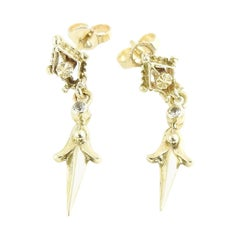 14 Karat Yellow Gold Drop Earrings