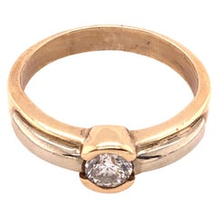 14 Karat Yellow Gold Engagement Bridal Ring 0.50 Total Diamond Weight