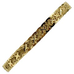 14 Karat Yellow Gold Fancy Link Aurafin Bracelet