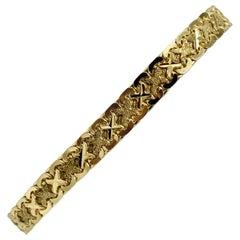 14 Karat Yellow Gold Fancy Link Aurafin Bracelet
