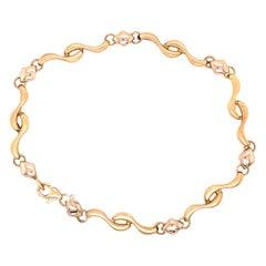 14 Karat Yellow Gold Fancy Link Bracelet