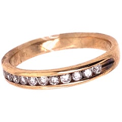 14 Karat Yellow Gold Fashion Ring with Diamonds .33 Total Diamond Weight