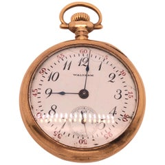 14 Karat Yellow Gold Filled American Waltham Pocket Watch