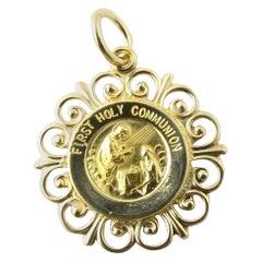 14 Karat Yellow Gold First Holy Communion Charm