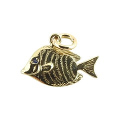 14 Karat Yellow Gold Fish Charm