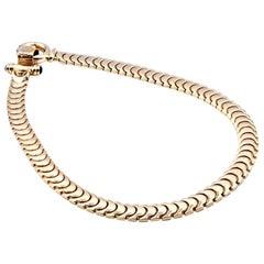14 Karat Yellow Gold Flat Fashion Collar Necklace