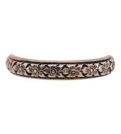 14 Karat Yellow Gold Floral Etched Band / Wedding Ring