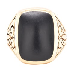 Tiffany And Company Gents Yellow Gold And Onyx Ring At 1stdibs