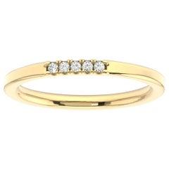 14 Karat Yellow Gold Gina Petite Stackable Diamond Ring '1/20 Carat'