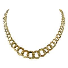 14 Karat Yellow Gold Graduated Link Necklace 13.6 Grams