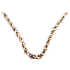 14 Karat Yellow Gold Graduated Rope Chain