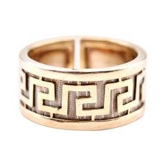 14 Karat Yellow Gold Greek Design Ring