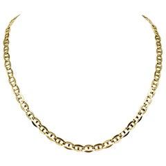 14 Karat Yellow Gold Gucci Mariner Link Chain Necklace