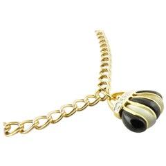 14 Karat Yellow Gold Handbag and Shoe Charm Bracelet