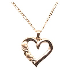 14 Karat Yellow Gold Heart Necklace