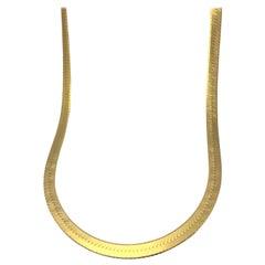 14 Karat Yellow Gold Herringbone Chain