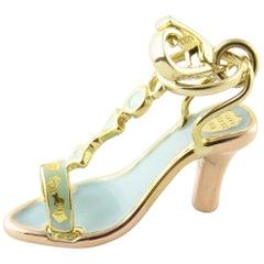 14 Karat Yellow Gold High Heel Sandal Charm