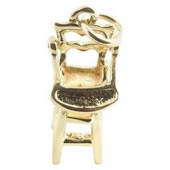 14 Karat Yellow Gold Highchair Charm