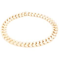 14 Karat Yellow Gold Hollow Link Necklace
