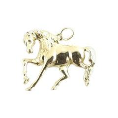 14 Karat Yellow Gold Horse Pendant