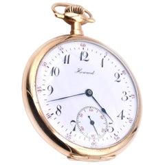 14 Karat Yellow Gold Howard Pocket Watch