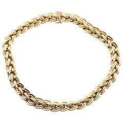14 Karat Yellow Gold Italian Designed Braided Necklace