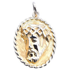 14 Karat Yellow Gold Jesus Pendant