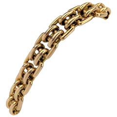 14 Karat Yellow Gold Ladies Fancy Buckle Link Bracelet