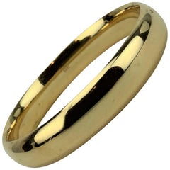 14 Karat Yellow Gold Ladies Polished Bangle Bracelet