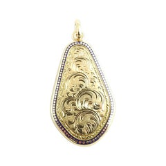 14 Karat Yellow Gold Large Locket Pendant