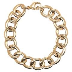 14 Karat Yellow Gold Link Bracelet 11.2 Grams Made in Italy
