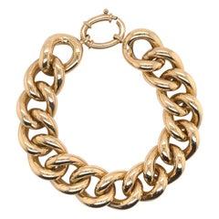 14 Karat Yellow Gold Link Bracelet 34.1 Grams