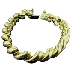 14 Karat Yellow Gold Link Bracelet