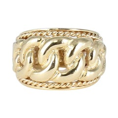 14 Karat Yellow Gold Link Design Ring
