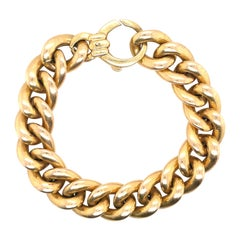 14 Karat Yellow Gold Link Necklace 23.4 Grams, Made in Italy
