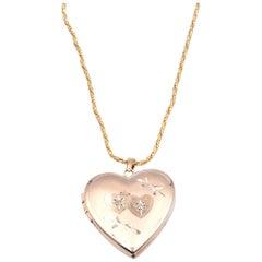 14 Karat Yellow Gold Locket Necklace