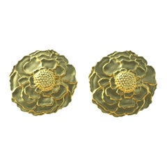 14 Karat Yellow Gold Marigold Cufflinks