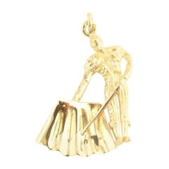14 Karat Yellow Gold Matador Charm